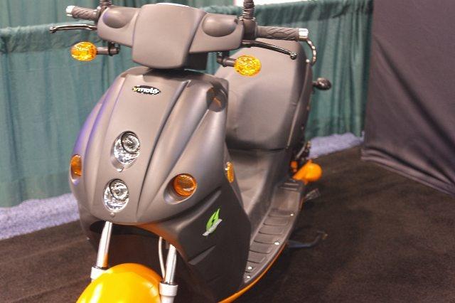 Eenzame elektrische scooter