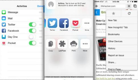 Chrome iOS 8