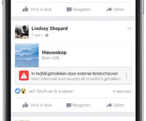 Facebook nepnieuws project