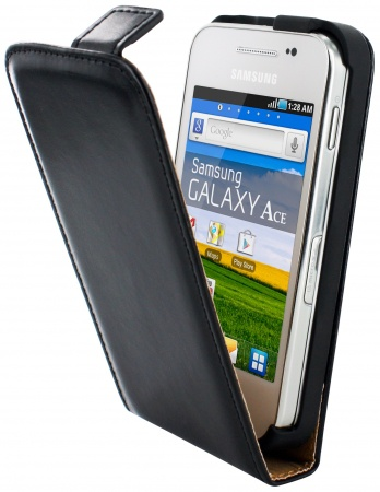 Mobiparts Mobiparts Classic Flip Case Samsung Galaxy Ace Black