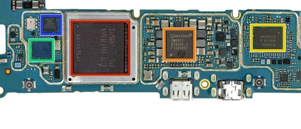 Qualcomm-chip in BlackBerry Z10. Bron: iFixit