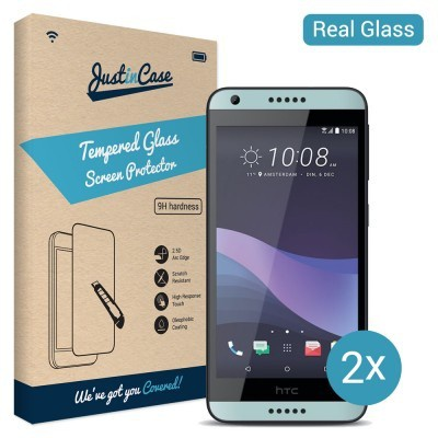 Just in Case Tempered Glass HTC Desire 650 - 2 pack
