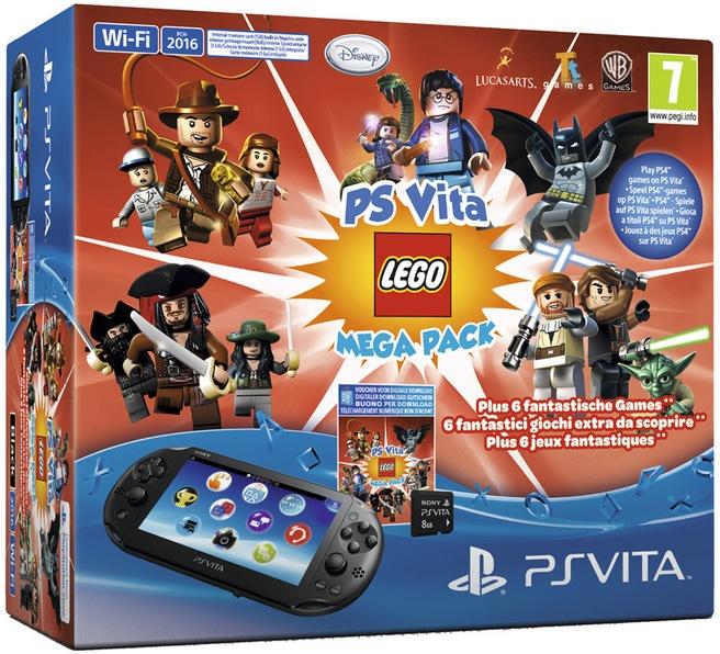 Sony PlayStation Vita WiFi + LEGO Mega Pack (voucher) + 8GB Zwart