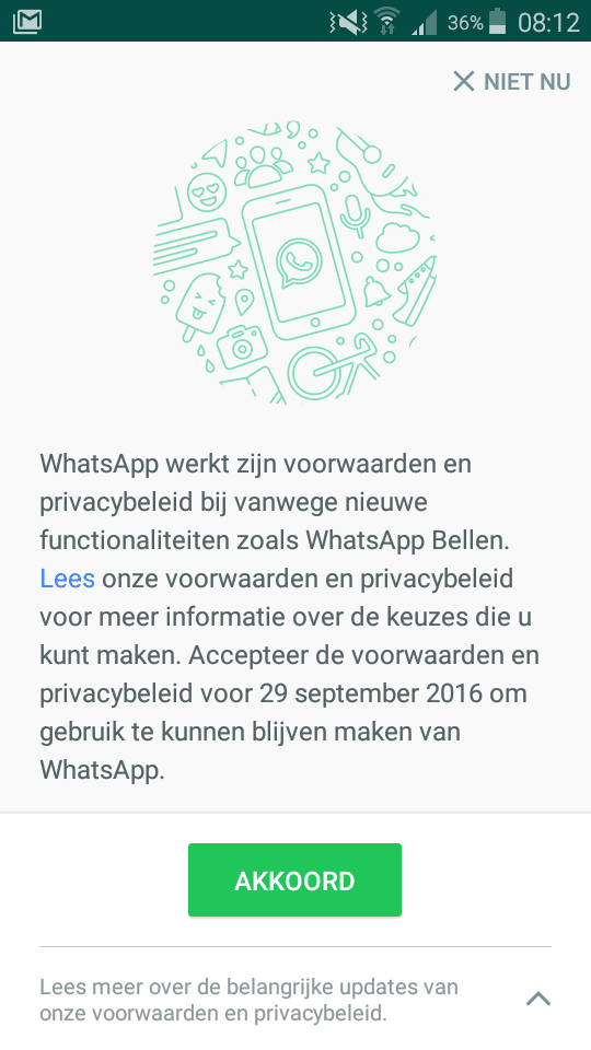 whatsapp privacy screenshot