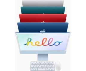 "Apple iMac 24"" Retina 4.5K (2021) M1, 7-core GPU, 8GB, 256GB ssd (Qwerty toetsenbord), Blauw"