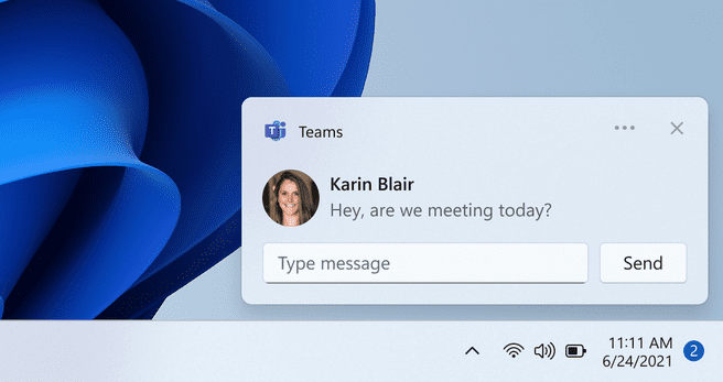 Windows Chat notificatie