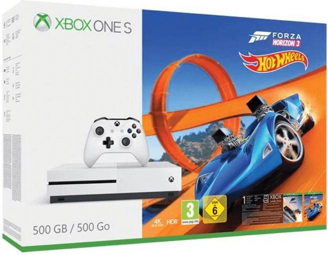 Microsoft Xbox One S 500GB + Forza Horizon 3 + Hot Wheels Wit