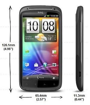 HTC Sensation (buitenmaten)