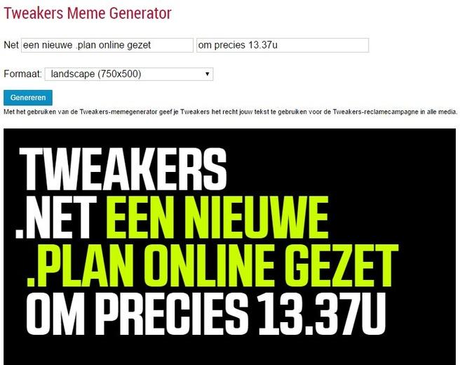 Tweakers Meme .plan