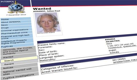 Julian Assange Wanted