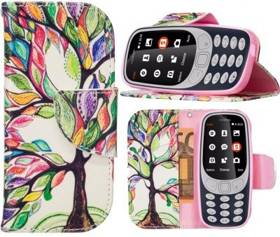 qMust Nokia 3310 (2017) Wallet Case Painted Tree