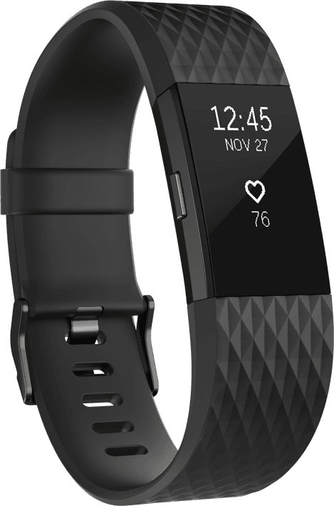 Fitbit Charge 2 - Black/Gunmetal (S)