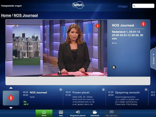 Telfort: live tv op desktop of via app