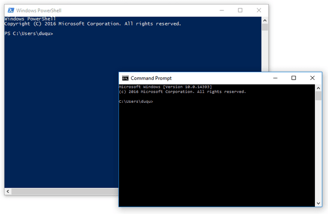 command prompt powershell