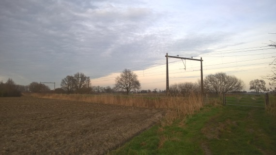 Spoorlijn met goed licht
