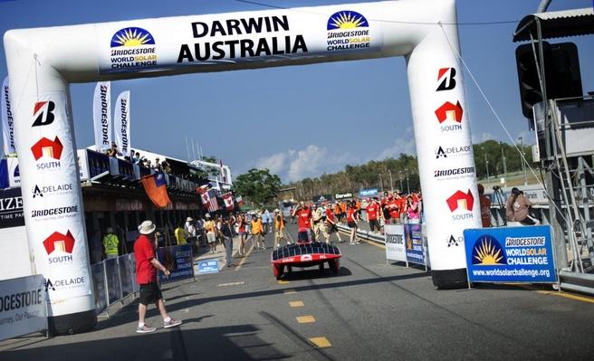 Solar Team Twente finnish kwalificatie Darwin