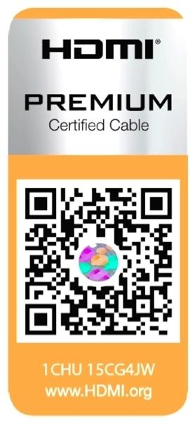 Premium HDMI Cable Certification Program label
