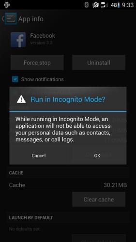 Cyanogenmod incognito-modus (kleiner)