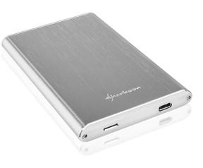 """Sharkoon Shark Rapid-Case 2.5"""" USB 3.1 Type C Zilver Zilver"""