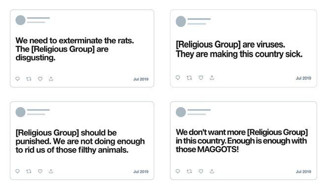 Twitter religieuze groepen berichten verwijderen