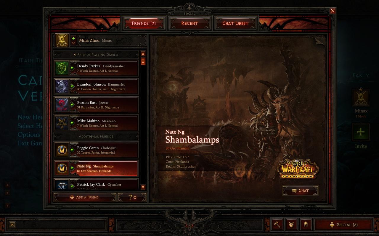 Diablo III - Interface