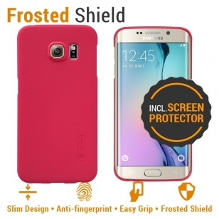 Nillkin Backcover Samsung Galaxy S6 edge - Super Frosted Shield - Red