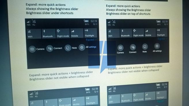 windows 10 action center redesign