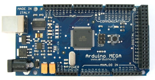 Arduino Mega, the basis for many 3d printer electronics