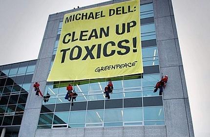 Greenpeace voert actie tegen Dell