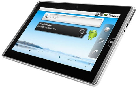 Mockup; EeePad met Android