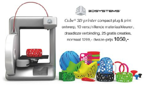 Cube 3d printer Bijenkorf