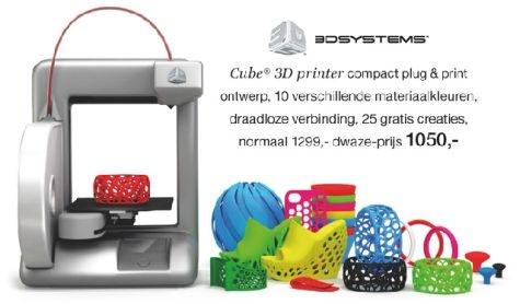Cube 3d printer Bijenkorf
