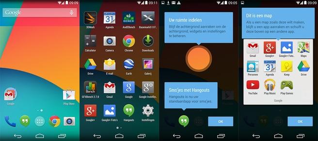Nieuwe launcher in Android KitKat