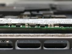 Sintech SSD in MacBookPro12,1 side view 1