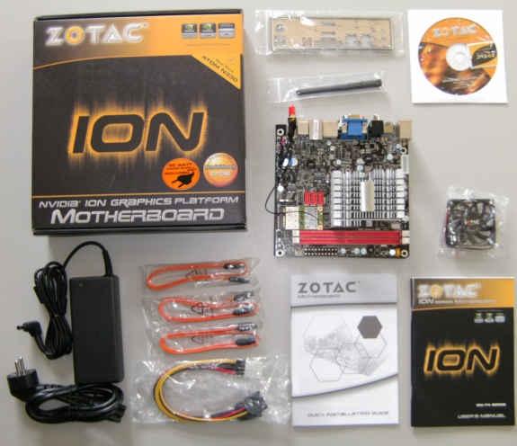Zotac ION ITX A-E - Inhoud verpakking