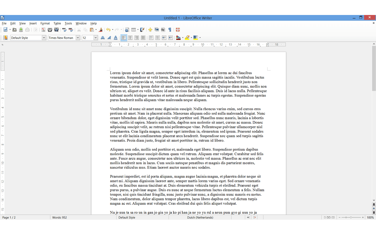 LibreOffice 4.0 - Writer