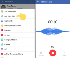 Facebook Voice Clips