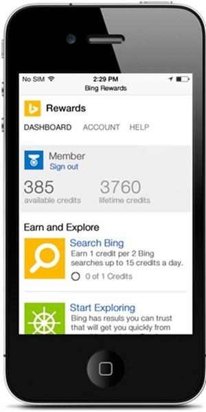 Bing Rewards voor mobiel