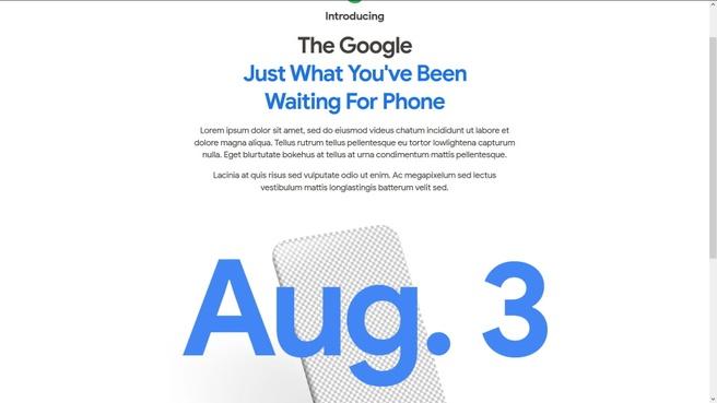 Google Pixel-teaser