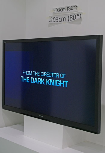 """Sharp Aquos 80""""-lcd-tv prototype op IFA 2011"""