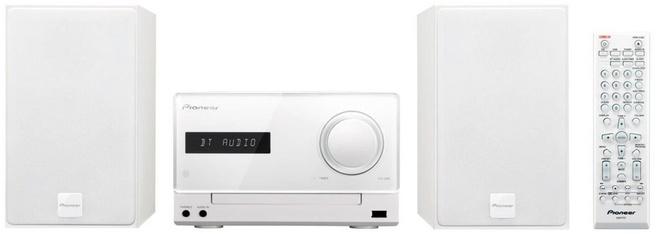 Pioneer X-CM35BT-W Micro Hifi-System (2x 15 Watt, Bluetooth, NFC, Front-USB, CD, Streaming App) weiÃ?