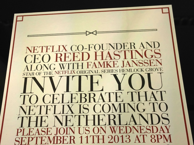 Netflix-uitnodiging