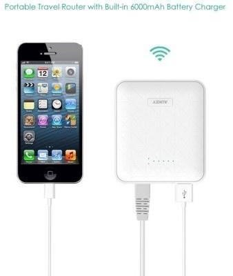 Aukey Portable Wireless Router + powerbank 6000mAh (PB-W1) - White