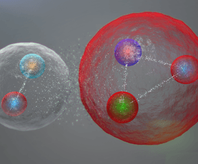 Pentaquark: baryon-meson-structuur