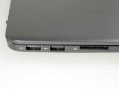 laptop links aansluitingen detail