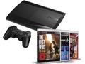 Goedkoopste Sony PlayStation 3 Slim (2012) 500GB + Gran Turismo 6 + The Last Of Us + Uncharted 3 Zwart