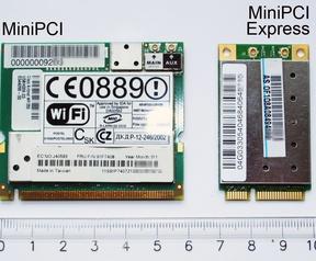 MiniPCI and MiniPCI Express cards