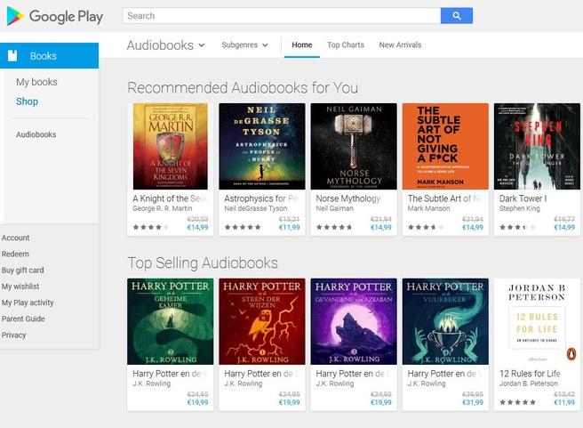Audioboeken bij Google