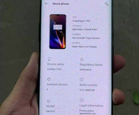 Vermoedelijke OnePlus 7 Pro, bron: https://m.weibo.cn/detail/4359297703578198