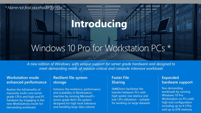 Windows 10 Pro for Workstation PC's